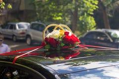 Dekorujący Ślubny samochód Obrazy Royalty Free