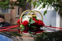 Dekorujący Ślubny samochód Obraz Royalty Free
