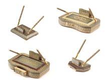 Dekorujący biurko sety, mozaika. zdjęcia royalty free