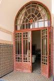 dekorujący drzwi El Badi pałac marrakesh Maroko Obraz Royalty Free