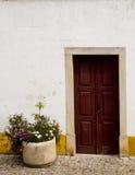 Dekorujący drzwiowy Obidos Portugalia Fotografia Royalty Free