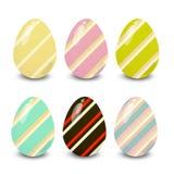 Dekorujący Easter kolorowi jajka ilustracyjni ilustracji
