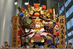 dekorujący festiwalu pławika gion hakata yamasaka obraz stock