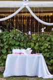 Dekorujący stół. Obrazy Royalty Free