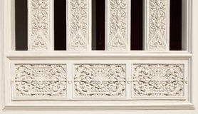 Dekorujący tajlandzkie sztuki piękna na świątyni ścianie Fotografia Stock