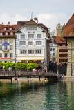 Dekorujący budynki Stary miasteczko Fotografia Royalty Free