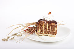 Dekorujący Czekoladowy tort Obrazy Stock