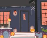 Dekorujący dom dla Halloween Obraz Stock