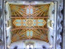 Dekorujący katedralny sufit Fotografia Stock