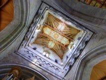 Dekorujący katedralny sufit Zdjęcia Stock
