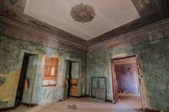dekorujący zielony pokój w kasztelu Obraz Royalty Free
