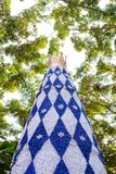 Dekoruje choinki w nowy rok festiwale, tekstury tło fotografia royalty free