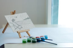 Dekoruje obraz zabawkarską akwarelę Obraz Royalty Free