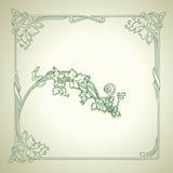 dekoruje ramowego zieleni wektoru rocznika royalty ilustracja