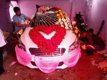 Dekoruje samochód zdjęcie royalty free