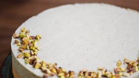 Dekoruje tort z pistacjami zbiory wideo