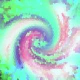 Dekorväggbakgrund i mosaik lappar - retro stil - abstrakt begrepp för tappninggarneringbakgrund i gräsplan Royaltyfri Foto