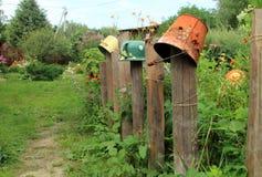 Dekorzaun im Garten Lizenzfreies Stockfoto