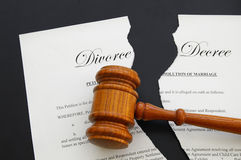 dekretu rozwód Fotografia Royalty Free