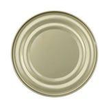 Deksel of Basis van Voedsel Tin Can royalty-vrije stock fotografie