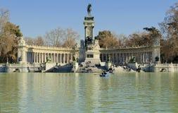 del το retiro Ισπανία της Μαδρίτης parque Στοκ Εικόνα