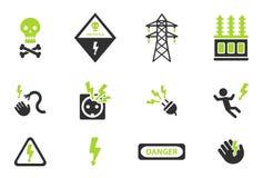 Del alto voltaje iconos simplemente Fotografía de archivo libre de regalías