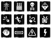Del alto voltaje iconos simplemente Foto de archivo