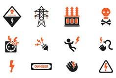 Del alto voltaje iconos simplemente Imagen de archivo libre de regalías