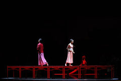 Del amor del camino- el acto largo primero de los eventos del drama-Shawan de la danza del pasado foto de archivo libre de regalías