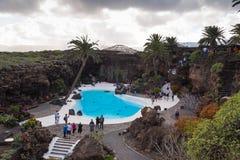 Del Aqua Lanzarote Spain di Jameos immagine stock