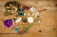 Del Aromatherapy todavía de los productos vida Fotografía de archivo libre de regalías