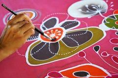 Pintura del batik Foto de archivo