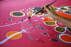 Pintura del batik Fotografía de archivo libre de regalías