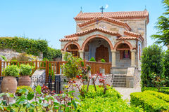 Del av Agios Stefanos St Stefan Monastery på den Meteora klippan, Grekland Royaltyfria Foton