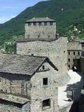 Del av Bellinzona slottar i Schweiz Royaltyfria Foton