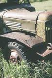 Del av den övergav lastbilen Arkivbild