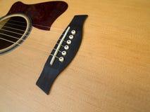 Del av den akustiska gitarren Royaltyfri Foto