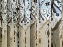 Del av den beautifully draperade gardinen Royaltyfri Bild