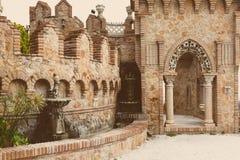 Del av den Colomares slotten i den Benalmadena staden fotografering för bildbyråer