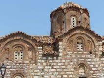 Del av den forntida kyrkan av Treenighet i den forntida delen av Berat i Albanien royaltyfri foto
