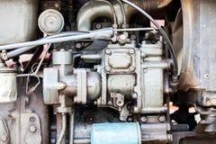 Del av den gamla bilmotorn Arkivfoton