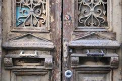 Del av den gamla dörren i Tbilisi Royaltyfri Foto