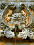 Del av den gammala springbrunnen i Dubrovnic, Arkivfoto