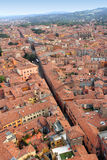 Del av den historiska mitten av bolognaen, Italien Arkivbild
