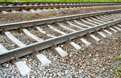 Del av den järnväg fotograferade närbilden royaltyfri foto