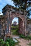 Del av den kungliga kinesiska slotten Lokaliserat på tonen, Vietnam Royaltyfri Fotografi