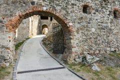 Del av den medeltida slotten Arkivfoto