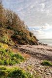 Del av den Menabilly stranden Royaltyfri Fotografi
