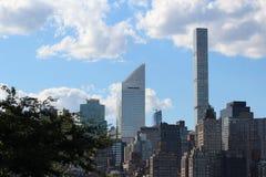 Del av den New York City horisonten Fotografering för Bildbyråer