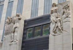 Del av den Rockefeller mitten, Manhattan, NYC Arkivfoton